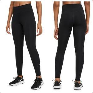 Nike One High Waisted Plus Size Black Leggings Yoga Gym Workout Activewear 2X